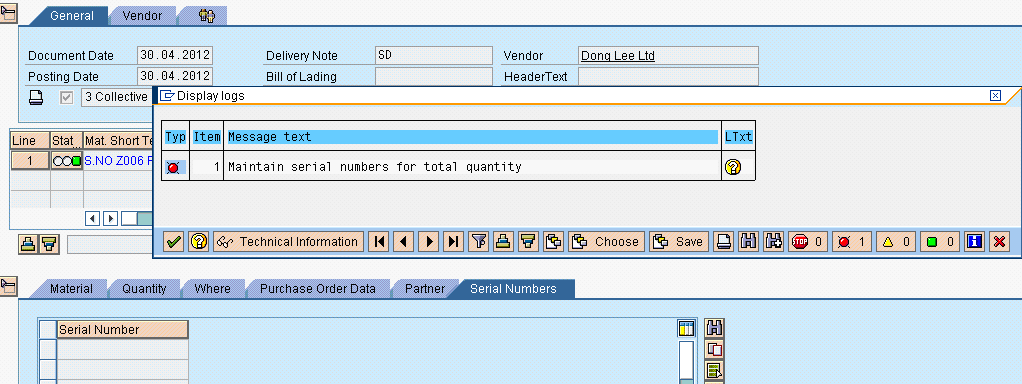 how to remove a processed order in sap