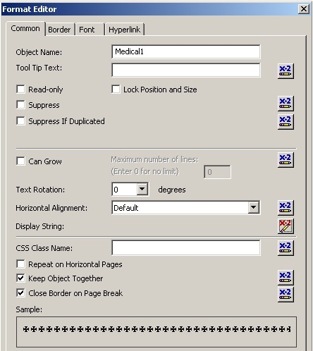 How to display a Check Box and a Radio Button in Crystal