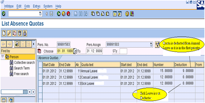 Deduction Rule Priority in Absence Deduction | SAP Blogs