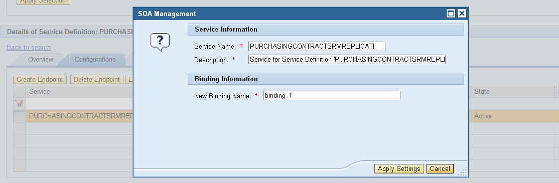how to create web service endpoint