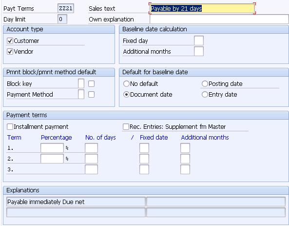 Controlling The Payment Due Date Calculation In Sap Sd