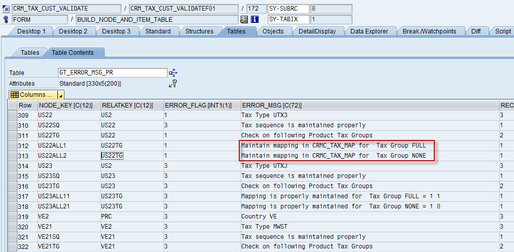Validating Tax Information Setup For Replication Between Ecc