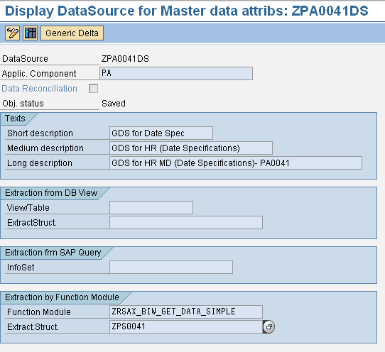Generic Extraction based on Function Module | SAP Blogs