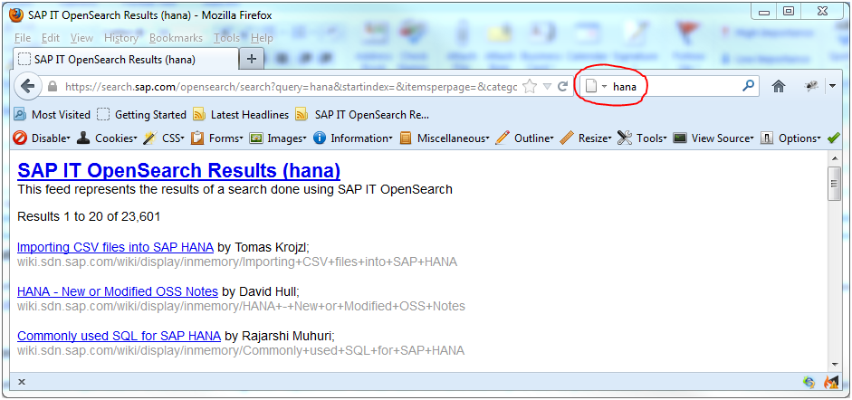 opensearch on scn sap blogs