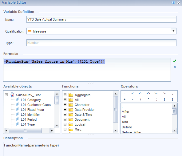 SAP BOBJ Web Intelligence Formulas Functions & Calculations
