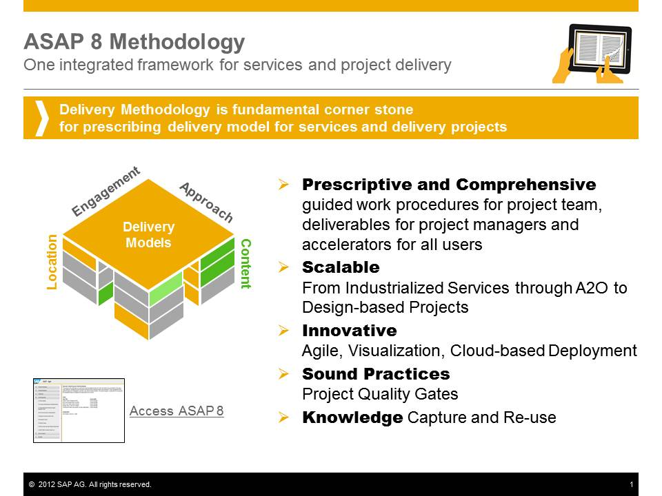 Asap methodology for implementation v8 now available sap for Implementation methodology template