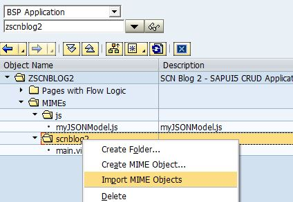 building a crud application with sapui5 and icf rest json service