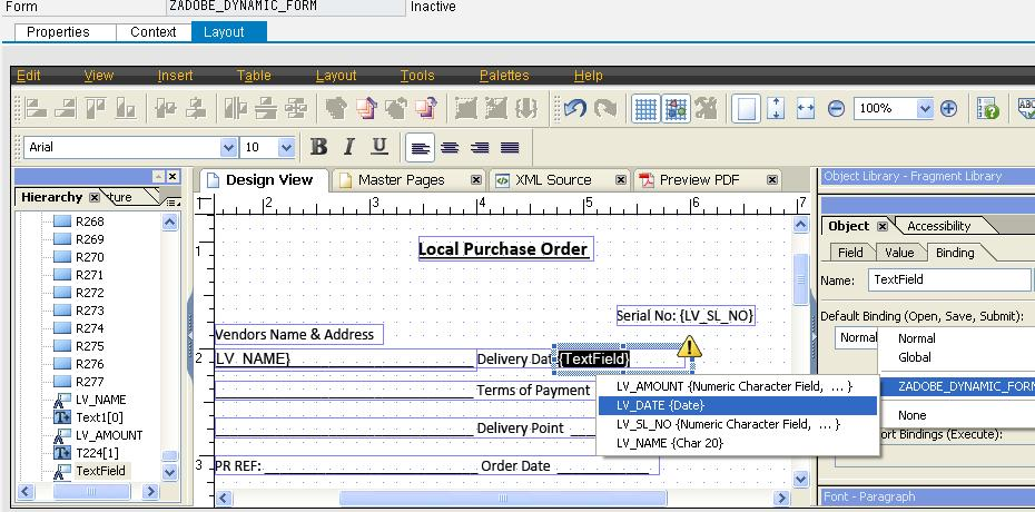 Step By Step Method To Create An Adobe Form With Dynamic Variables ...