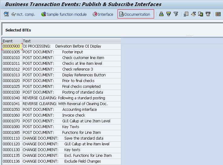 BTEs – Business Transaction Events | SAP Blogs