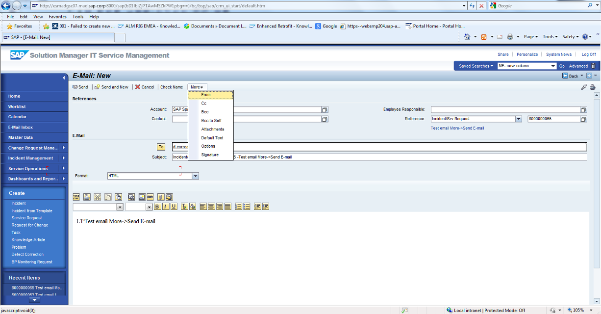 Incident Management and Change Request Management: E-Mail ...