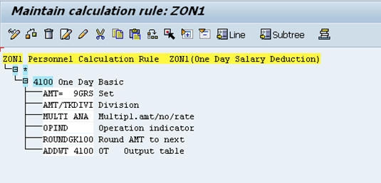 One Day Salary Deduction-Indian payroll (With Restriction for the