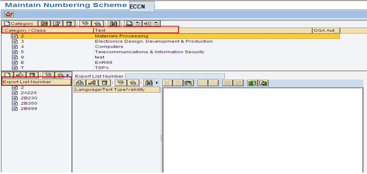 Eccn Number Table In Sap