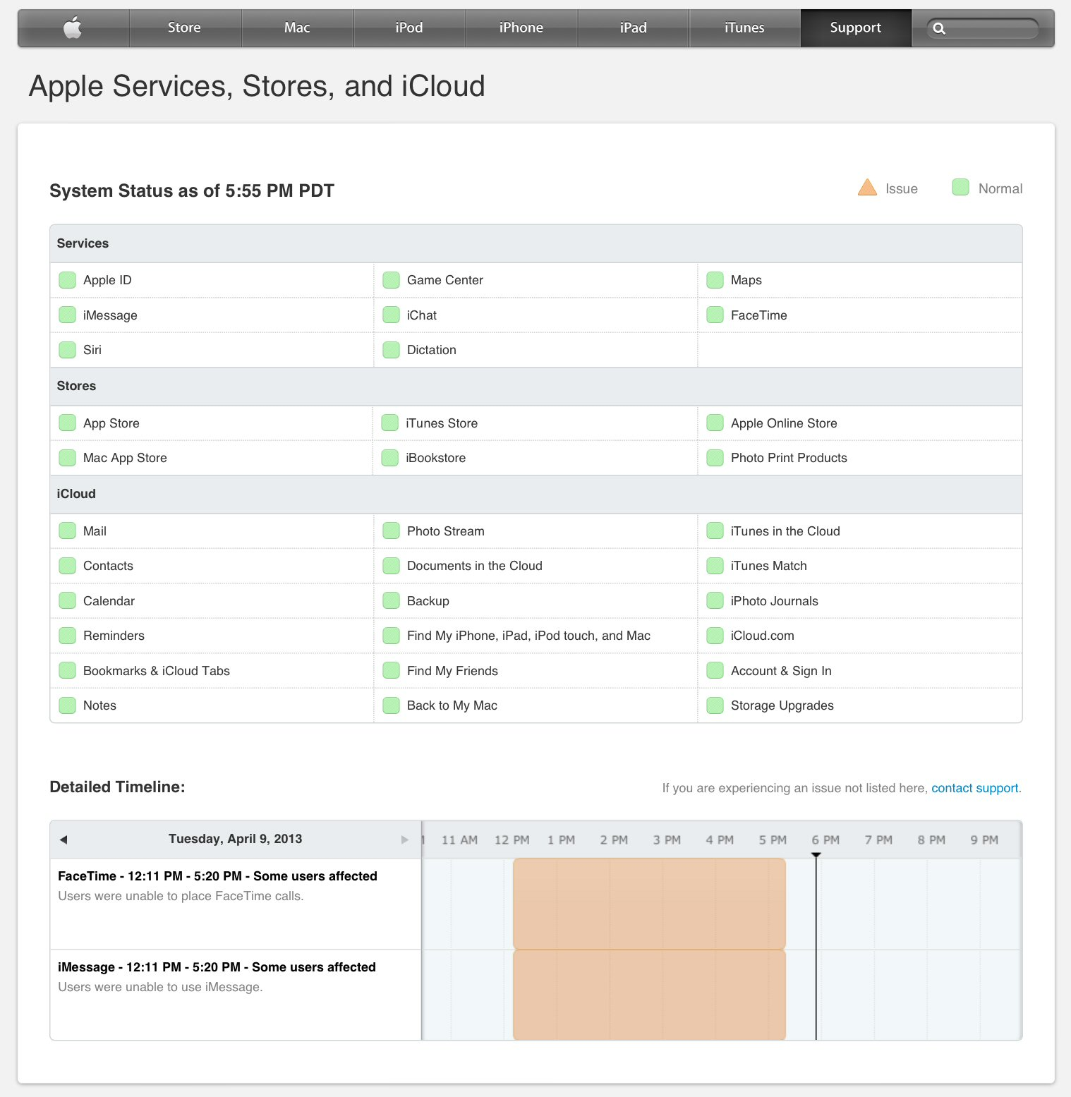 Apple iMessage Outage - Service Status - 2013.04.09.jpg