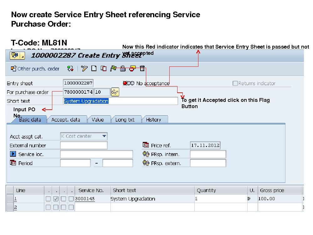 Service Master & Service Entry Sheet | SAP Blogs