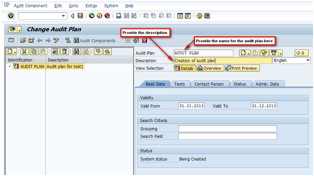 Audit Management: Step by step to create an audit | SAP Blogs