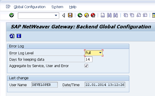 Error Log: Quick Starter Configuration Guide – SAP Gateway