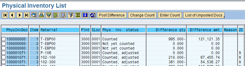 cycle counting configuration process flow and implementation sap