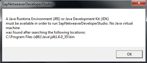 "How to resolve ""A Java Runtime Environment (JRE) or Java"