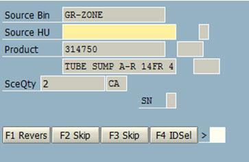 Customer enhancement in EWM: Skipping a screen in RF