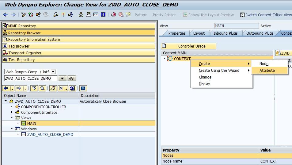 SAP Web Dynpro for ABAP