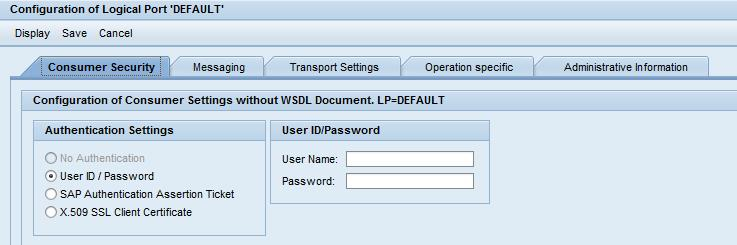 Create an SAP Web Service Consumer (calling External Web