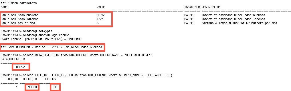 Oracle] Database cache internals and why one data block can