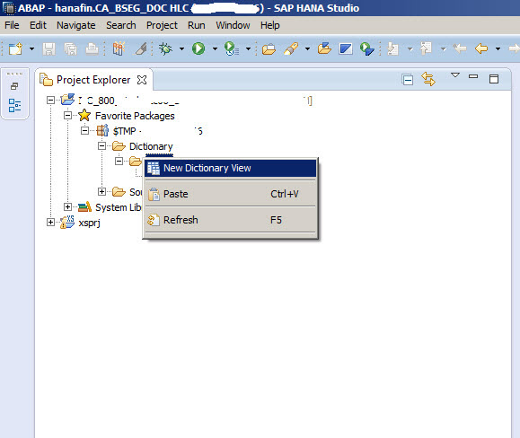 Create proxy dictionary from hana calculation view sap blogs for View dictionary