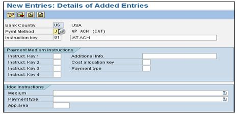 Implementation of ACH IAT payment method in SAP ECC 6 0