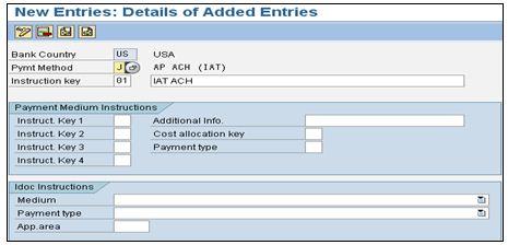 Implementation of ACH IAT payment method in SAP ECC 6 0 | SAP Blogs