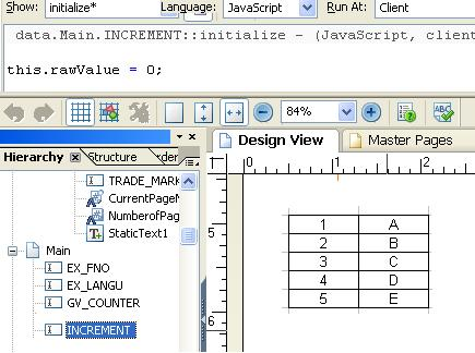 Incrementing the Counter dynamically in Adobe forms using Java