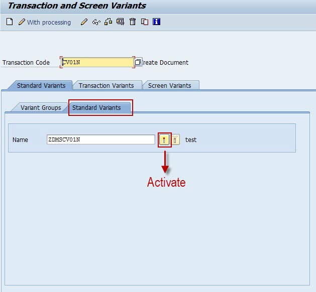 Specific Groups: Transaction And Screen Variants For Specific User Groups