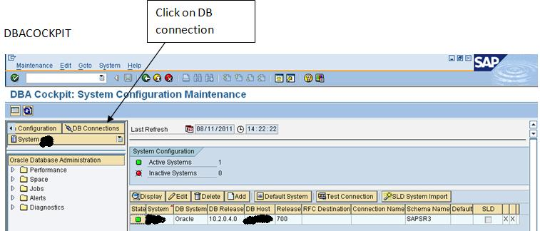 To create a new db connection in BW(Oracle as database