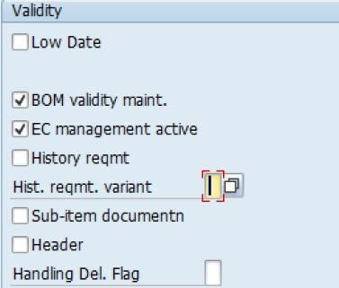 Bom Configuration: Bom Modification Parameters | Sap Blogs