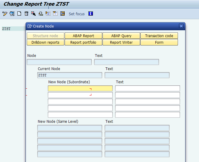 how to create a report in sap abap