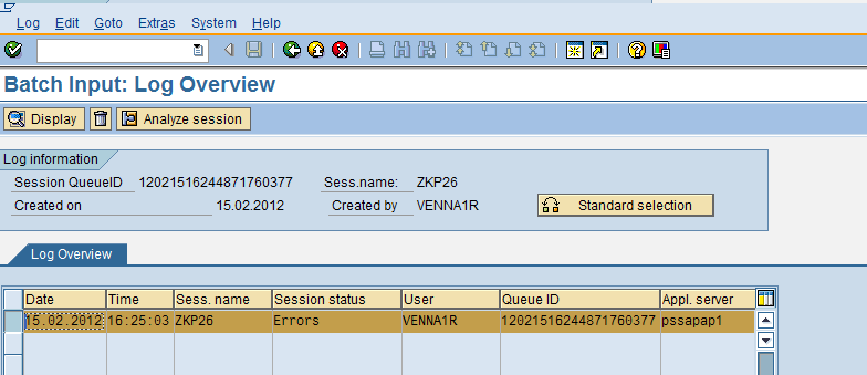 How to download Batch Input Session Log?   SAP Blogs
