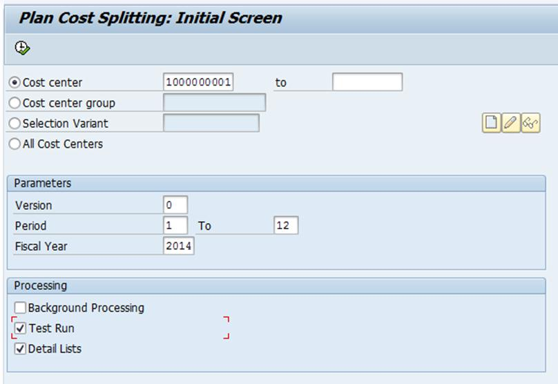 Expense Analysis and Splitting in Manufacturing Cost Centers
