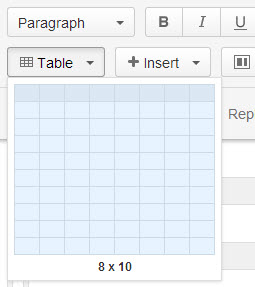 Insert table and define its size with mouse hover.jpg