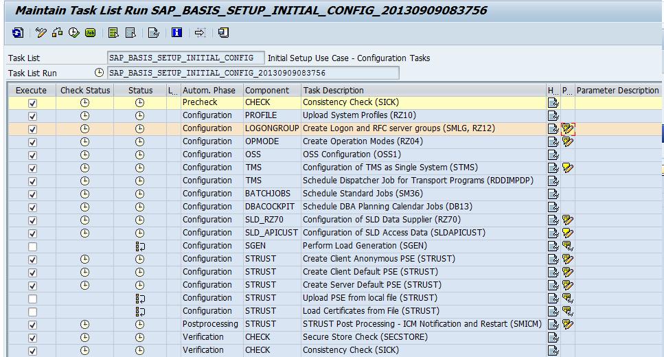 tasks list in order to automatize procedure sap blogs