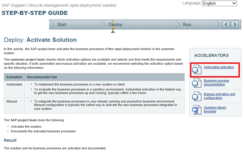 Implementation Of SAP Supplier Lifecycle Management Rapiddeployment - Process documentation guide