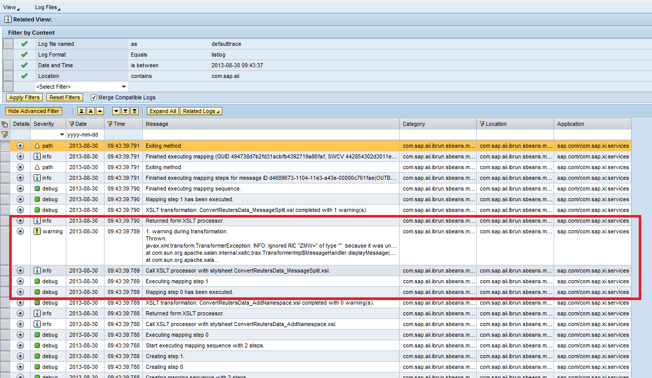 Mapping trace in sap pi 731 single stack sap blogs trace008g baditri Choice Image