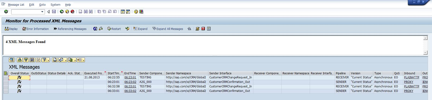 steps to test asynchronous web services sproxy sap blogs