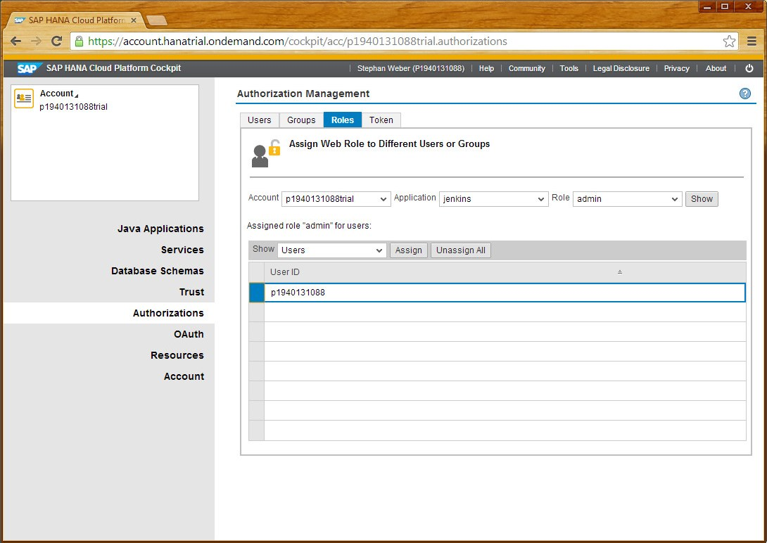 Run your own Jenkins on SAP HANA Cloud Platform | SAP Blogs