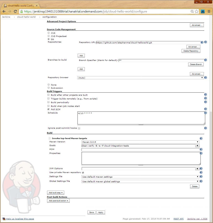 Run your own Jenkins on SAP HANA Cloud Platform   SAP Blogs