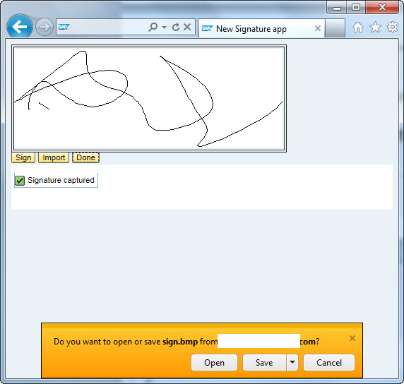 Integrating Topaz Signature pad with WebDynpro ABAP with HTML