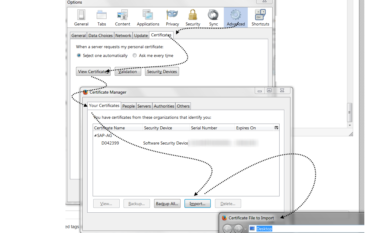 X509 authentication in hana xs sap blogs so the next thing we want to do is import the certificate into firefox 1betcityfo Gallery