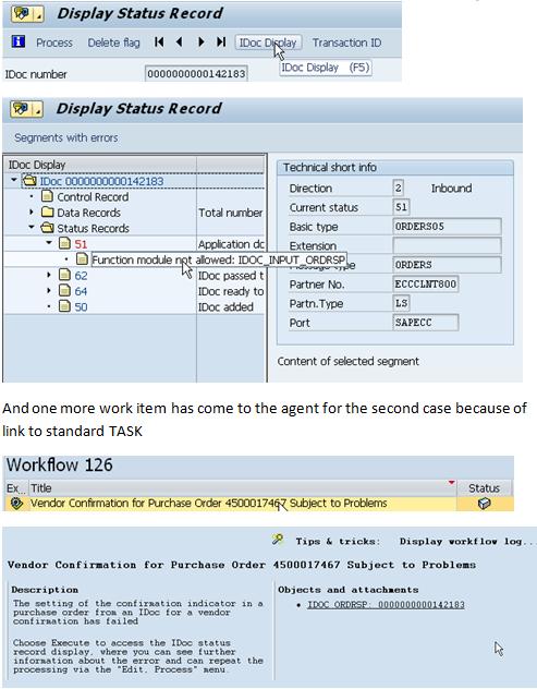 ALE IDOC – Error handling through Workflow@Inbound process