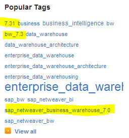 Popular Tags on SAP NW BW.PNG