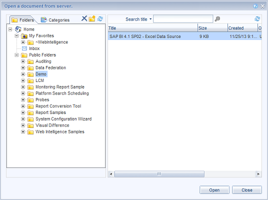 SAP BI 4.1 SP02 - Open a document - small.png