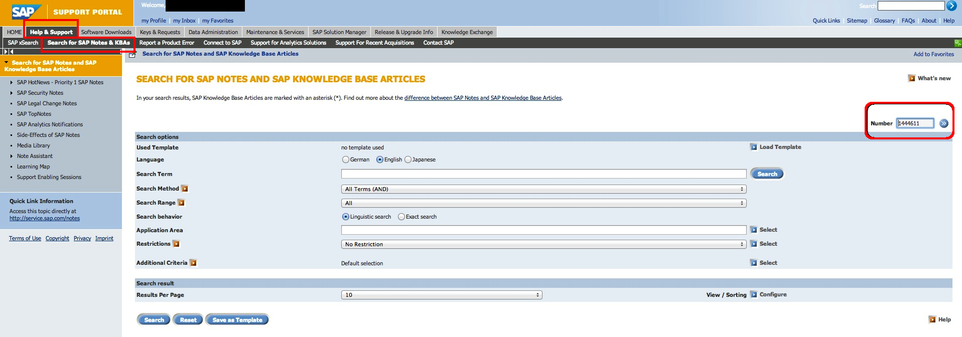 SAP OSS Notes Series – Part 2 – Discovering and reading