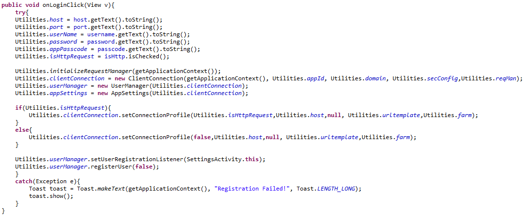 Android OData REST SDK Registration.PNG